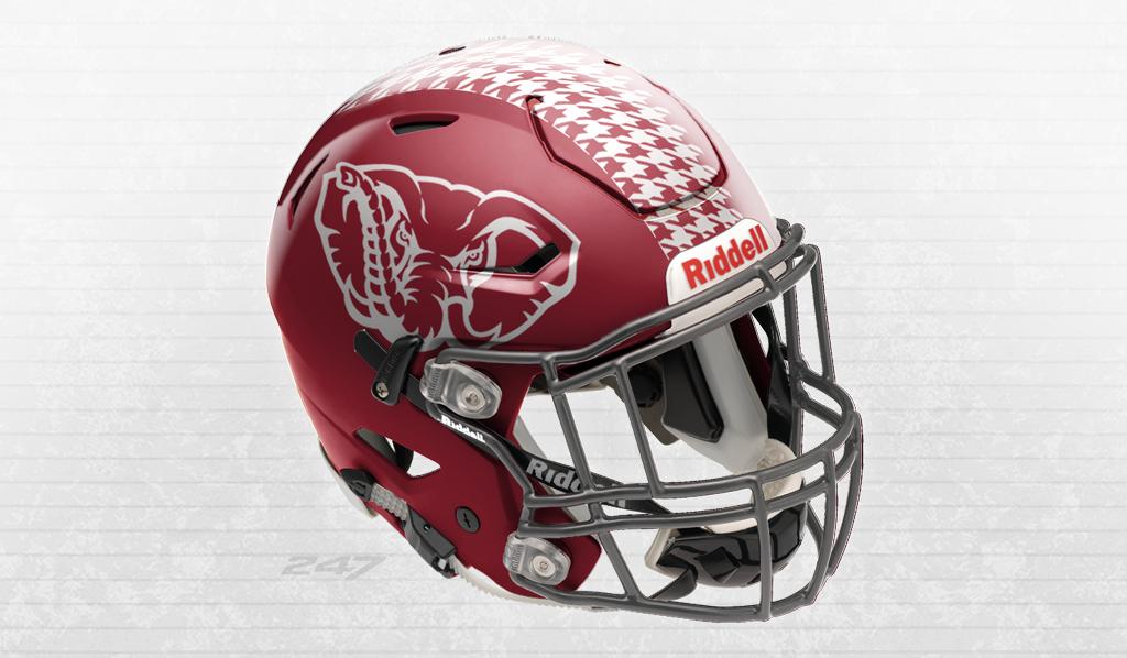 Offseason Helmet Concepts Photos Alabama Football Helmet Football Helmets Crimson Tide Football