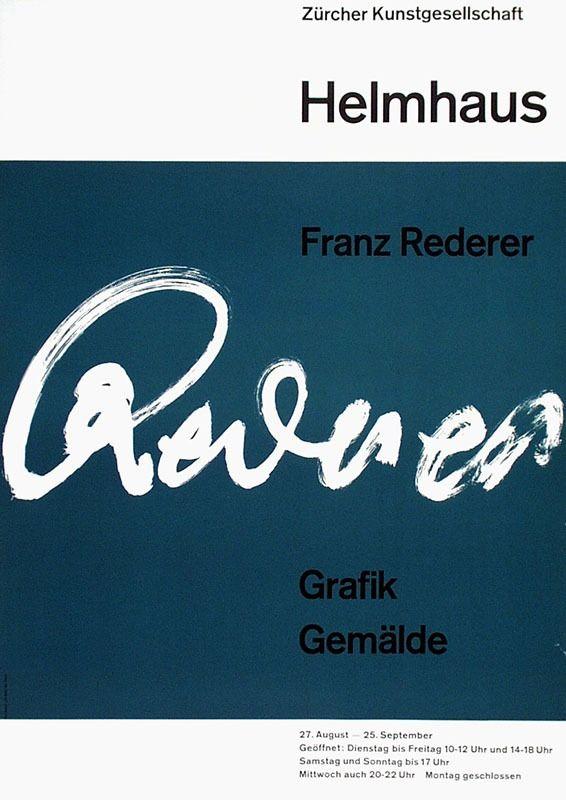 Karl Streuli – Franz Rederer Grafik Gemälde, Helmhaus, Zürich, 1960