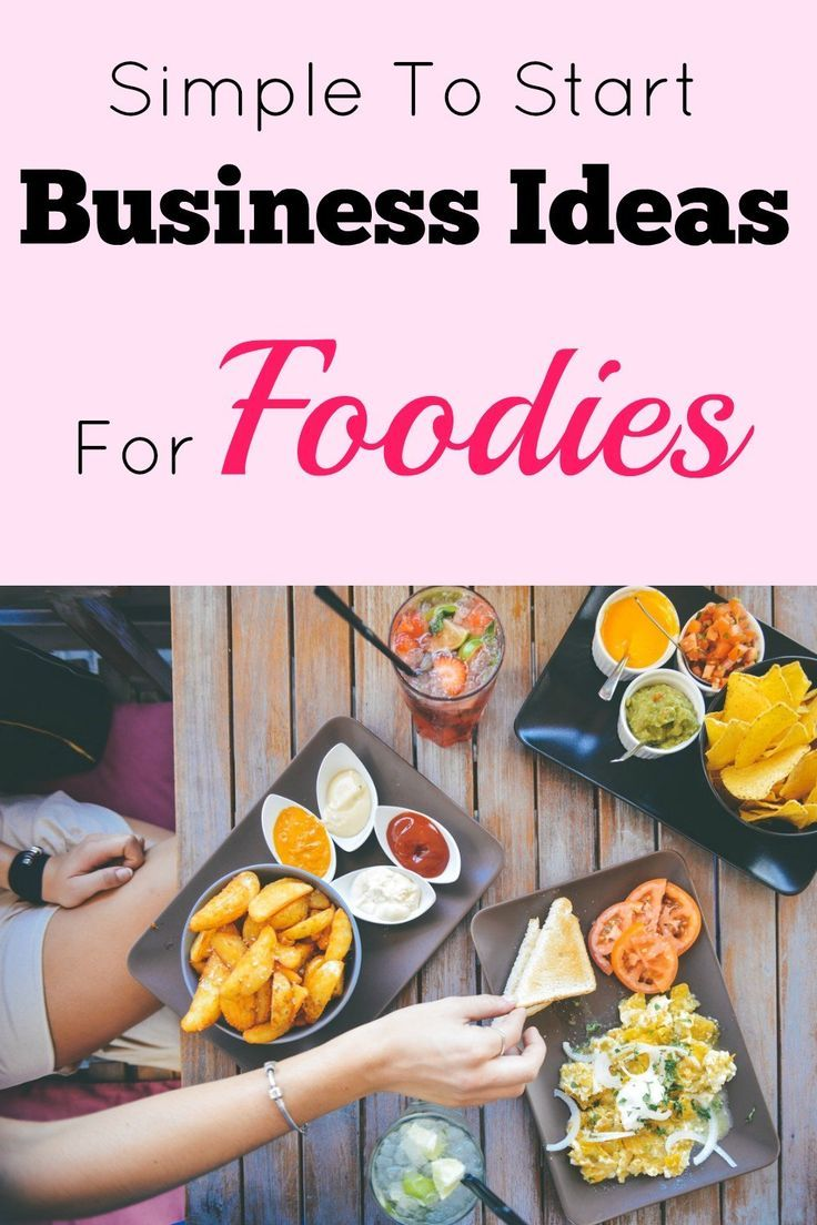 Simple To Start Business Ideas For Foodies Morning Business Chat Food Startup Food Food Business Ideas