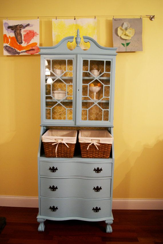 Items Similar To Sold Doris Shabby Desk Secretary Cabinet Hutch Chic On Etsy