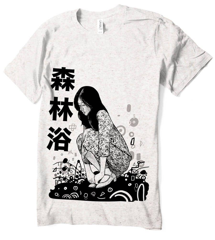 Anime T Shirt Girl Japanese Kanji Japan Tee Manga Men Women