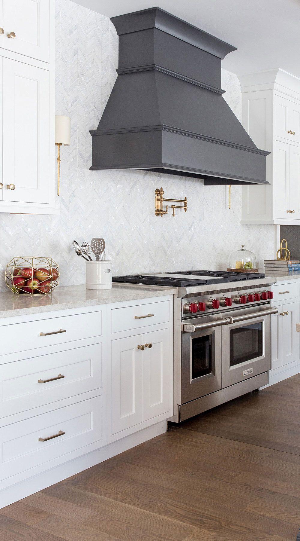 112 Chevron Backsplash Zig Zag Stunning Chevron Pattern Tiles In 2020 Shaker Style Kitchen Cabinets White Shaker Kitchen Shaker Style Kitchens