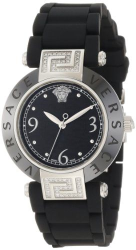 Versace Women's 92QCS91D008 S009 Reve Black Ceramic Stainless-Steel Rubber Watch | Your #1 Source for Watches and Accessories