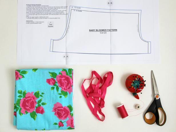 How to Sew Baby Bloomers with Free Pattern | Handwerk, Mütter und Nähen