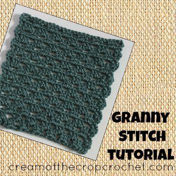 Cream of the Crop Crochet~Granny Stitch Tutorial {free #crochet tutorial} on #CreamOfTheCropCrochet. #handmade