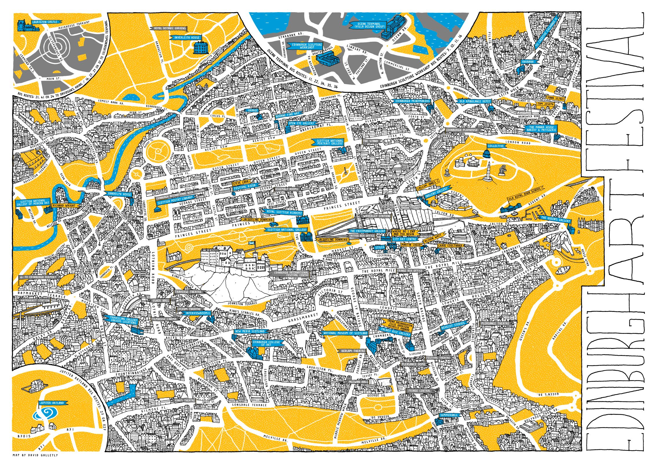 Edinburgh fringe map venues for wedding