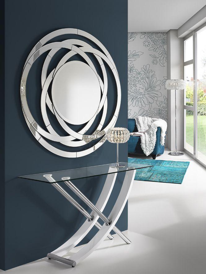 Espejos Modernos de Cristal : Modelo AROS C | KKM Home Decor ...