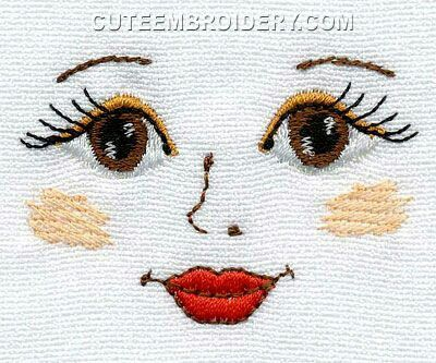 Pin By Sharon On Stitches Pinterest Dolls Embroidery And Doll Face