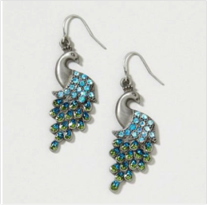 Peacock earrings! <3 for more visit www.gracefulngorgeous.me