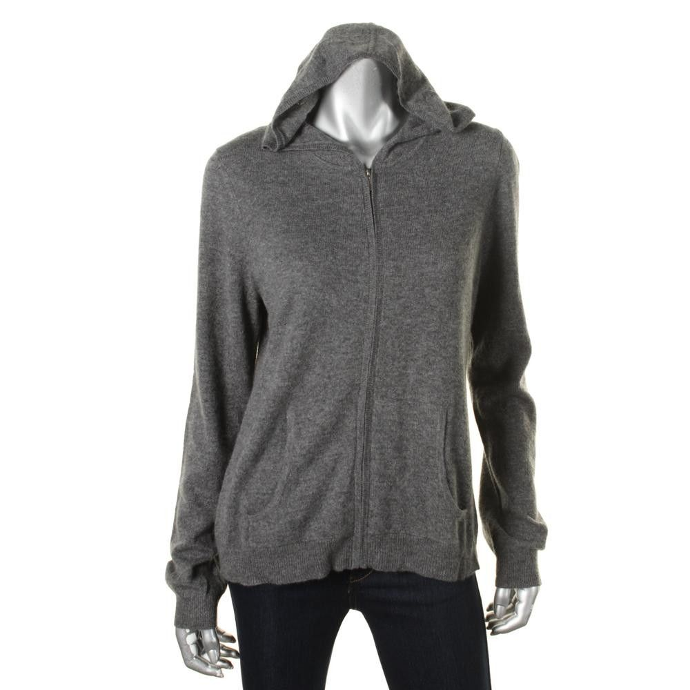 Charter Club Womens Cashmere Hooded Full Zip Sweater | Products ...