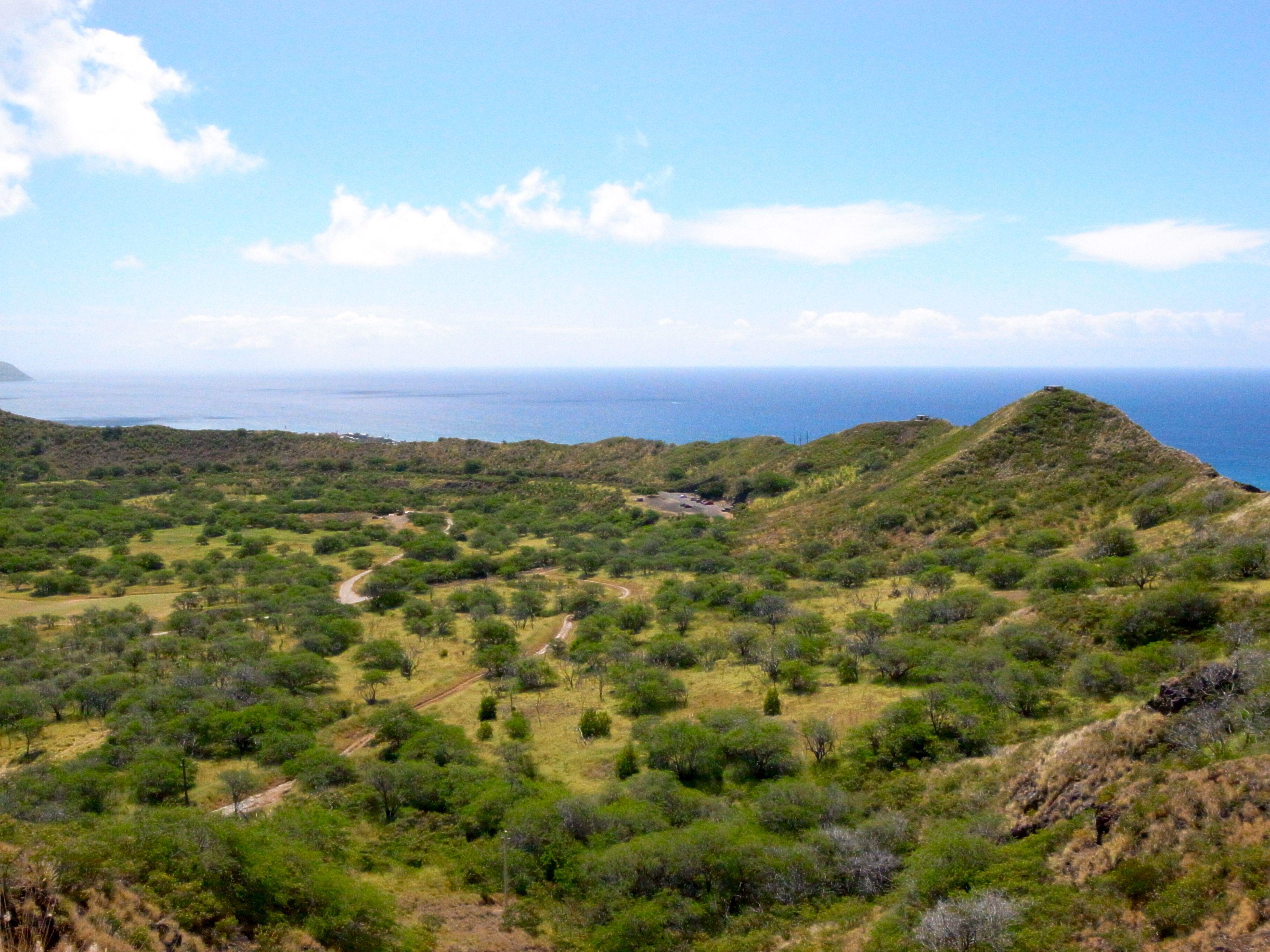 View from Diamond Head, O'ahiu