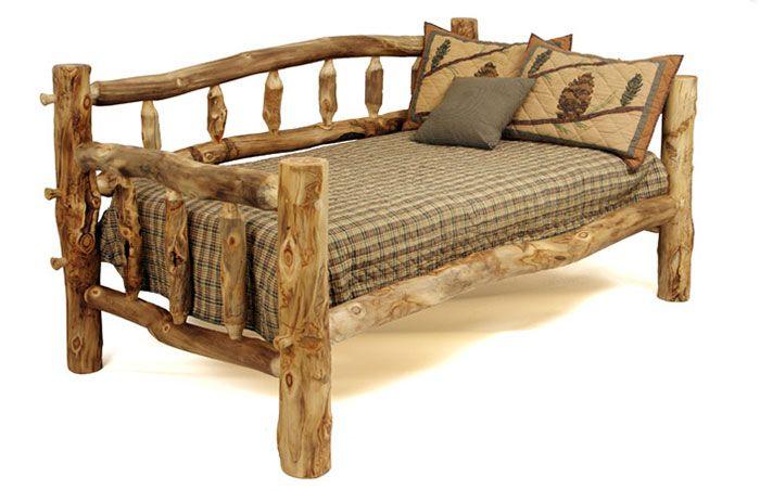 Aspen Log Furniture Reclaimed Barnwood Rustic Wood Br Rustic Furniture Rustic Bedding Furniture