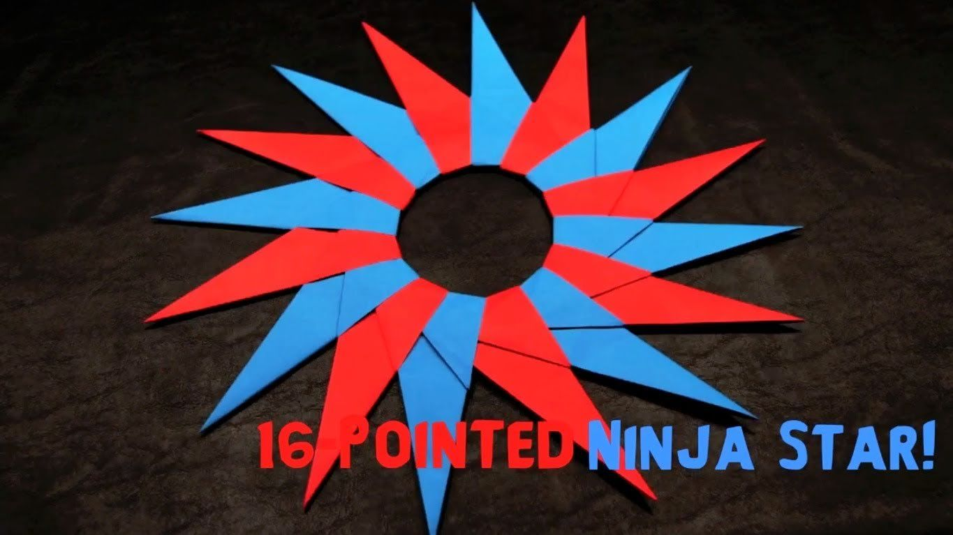 origami 16 pointed ninja star