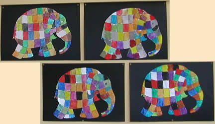 bildnerische erziehung in der volksschule malen elefant elmar kunst unterstufe ideen. Black Bedroom Furniture Sets. Home Design Ideas