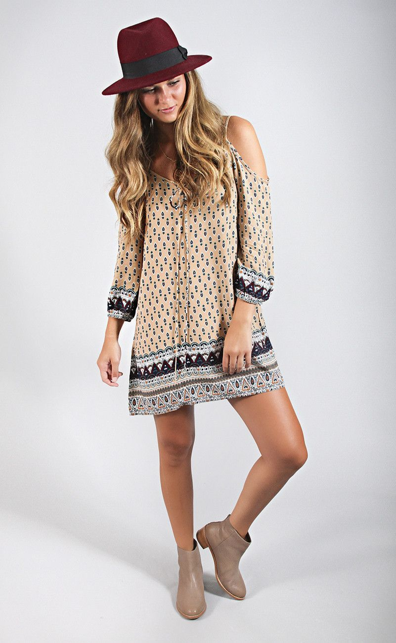 Site seeing cold shoulder dress shopriffraff clothing