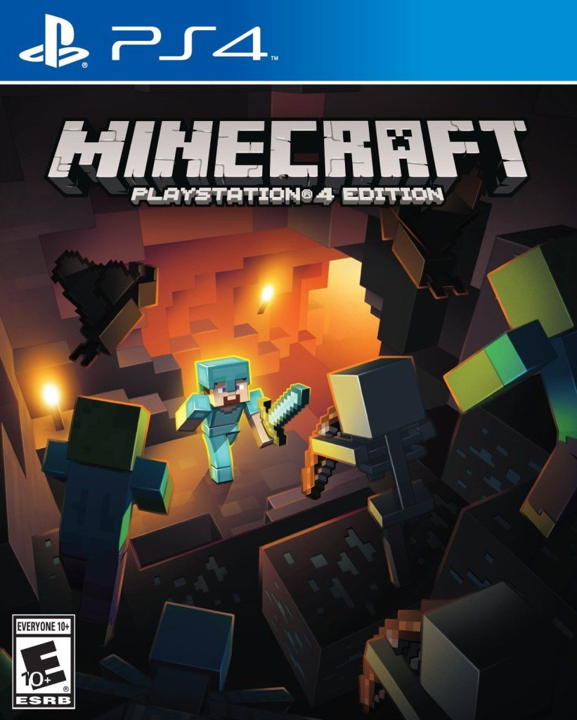 Minecraft Playstation Cover Art PS Gaming Games - Minecraft mit joystick spielen