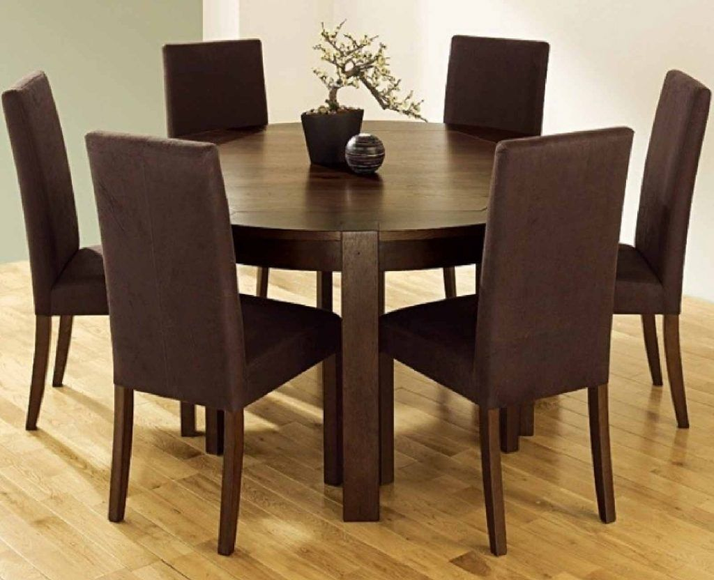 Round dining table for 6 round kitchen table with 6 chairsawesome brown round dining room