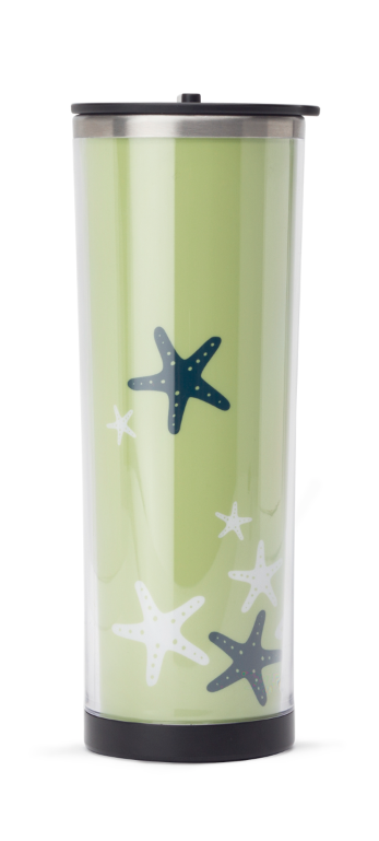 This double-wall stainless tea tumbler comes in an adorable starfish print.