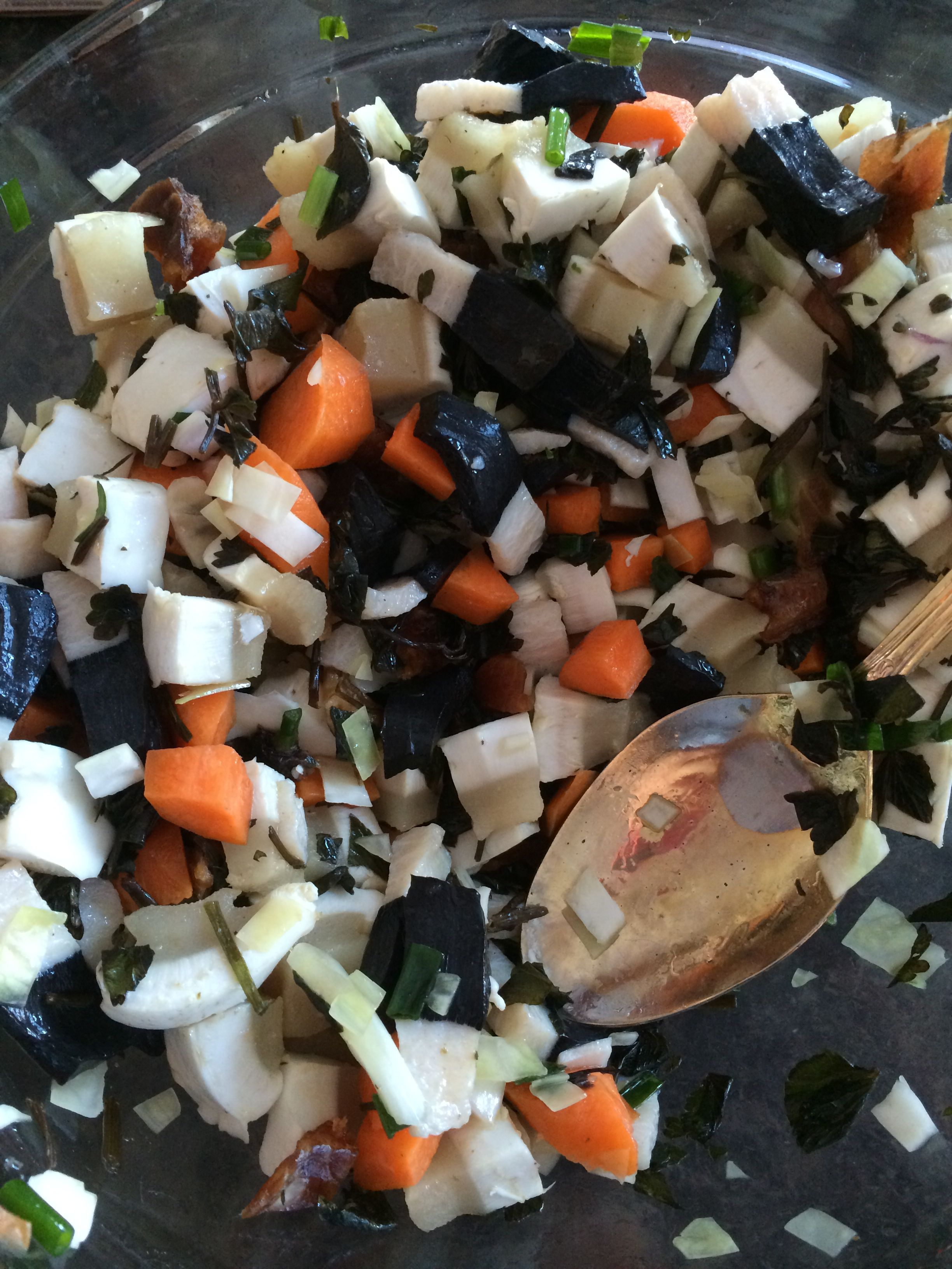 Eskimo salad for lunch | Inupiaq Me | Food, Nativity, Lunch