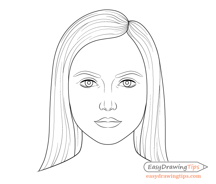 How To Draw A Female Face Step By Step Tutorial Easydrawingtips Drawing Tutorial Face Girl Face Drawing Face Drawing