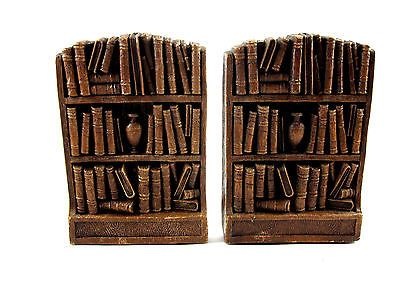 Book Ends Old Wood Bookshelf with Books