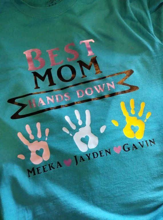 be618992d7 Personalized Mothers Day Gift Best MOM hands down TShirt Gammy/Grandma/Aunt /Uncle/Dad/funny shirt/mo