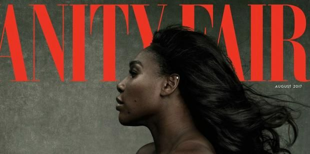 A stunning Serena Williams posed nude and pregnant for the cover of Vanity Fair's August issue.
