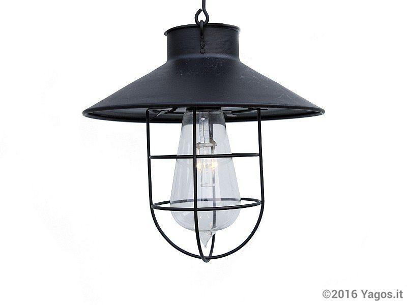 Lanterna da giardino led solare marine nero illuminazione