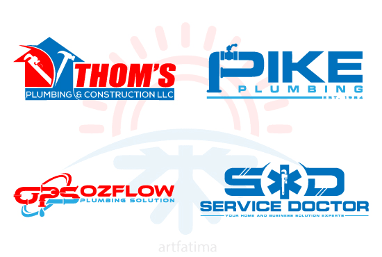 Design Plumbing Heating Air Conditioning Logo Air Conditioning