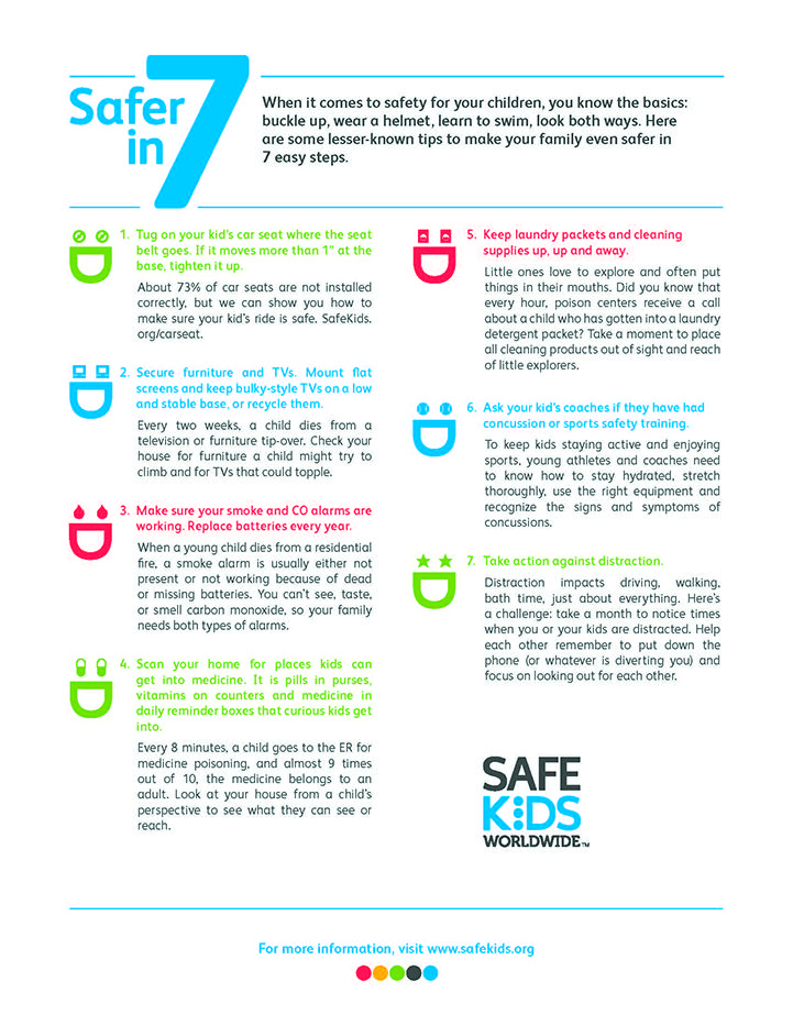 Safer In 7 Kids Safe Safe Kids Worldwide Keeping Kids Safe