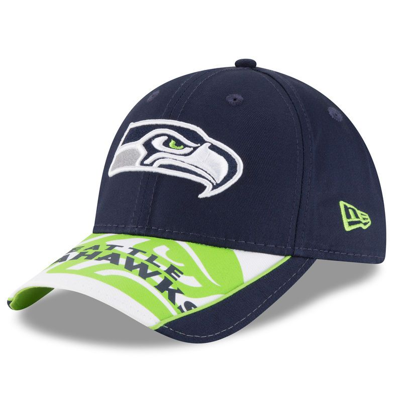 c222a92e Seattle Seahawks New Era Logo Scramble 9FORTY Adjustable Hat ...