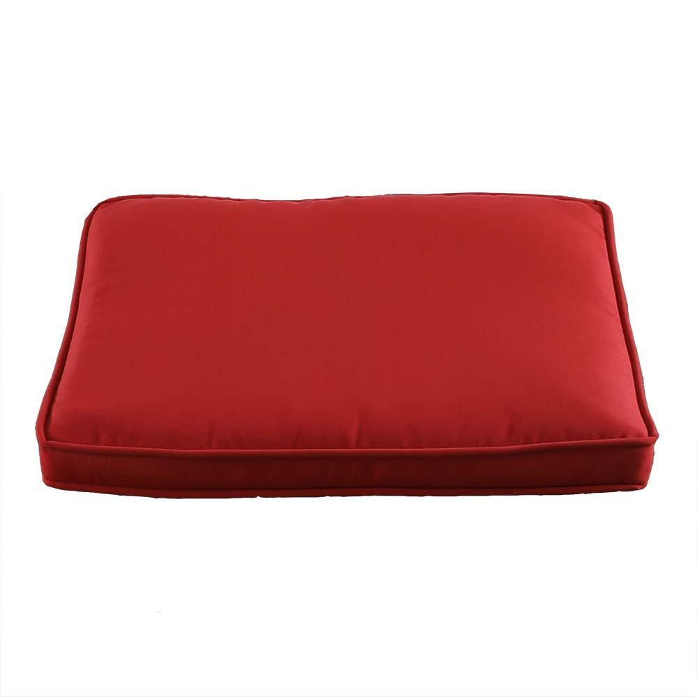 Nuu Garden Patio Red 2 Piece Square Outdoor Seat Cushion Mh 0110 Outdoor Seat Cushions Dining Chair Cushions Outdoor Dining Chair Cushions