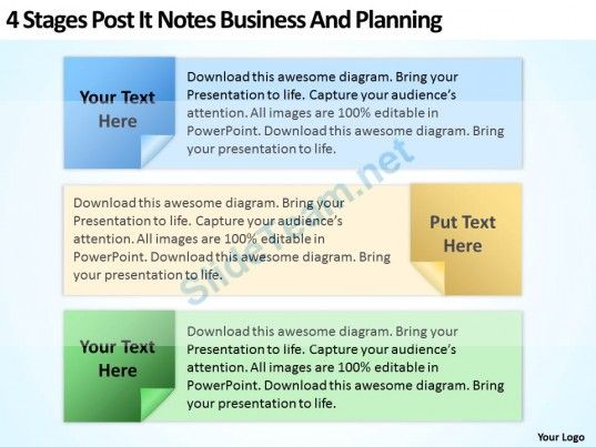 Business Development Process Flowchart Post It Notes And Planning - flow chart templates