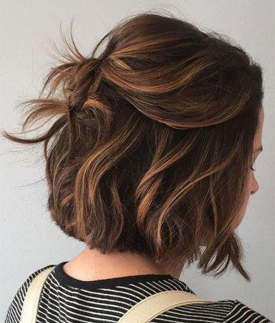 50 Best Medium Length Hairstyles For Thin Extremely Fine Hair Brown Bob Hair Brown Hair With Highlights Short Dark Brown Hair
