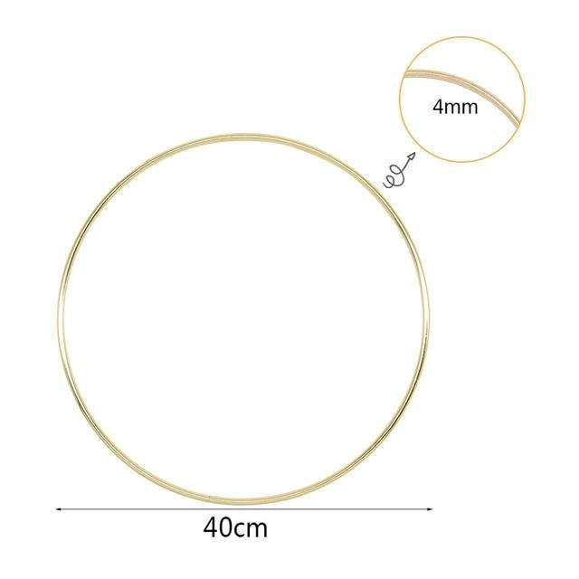 Photo of 10 40cm Gold Metal Ring Hoops DIY Craft Wind Chimes Accessories Hanging Decorations for Wedding Decoration Handmade Home Decor Wind Chimes & Hanging Decorations  – 40cm metal ring