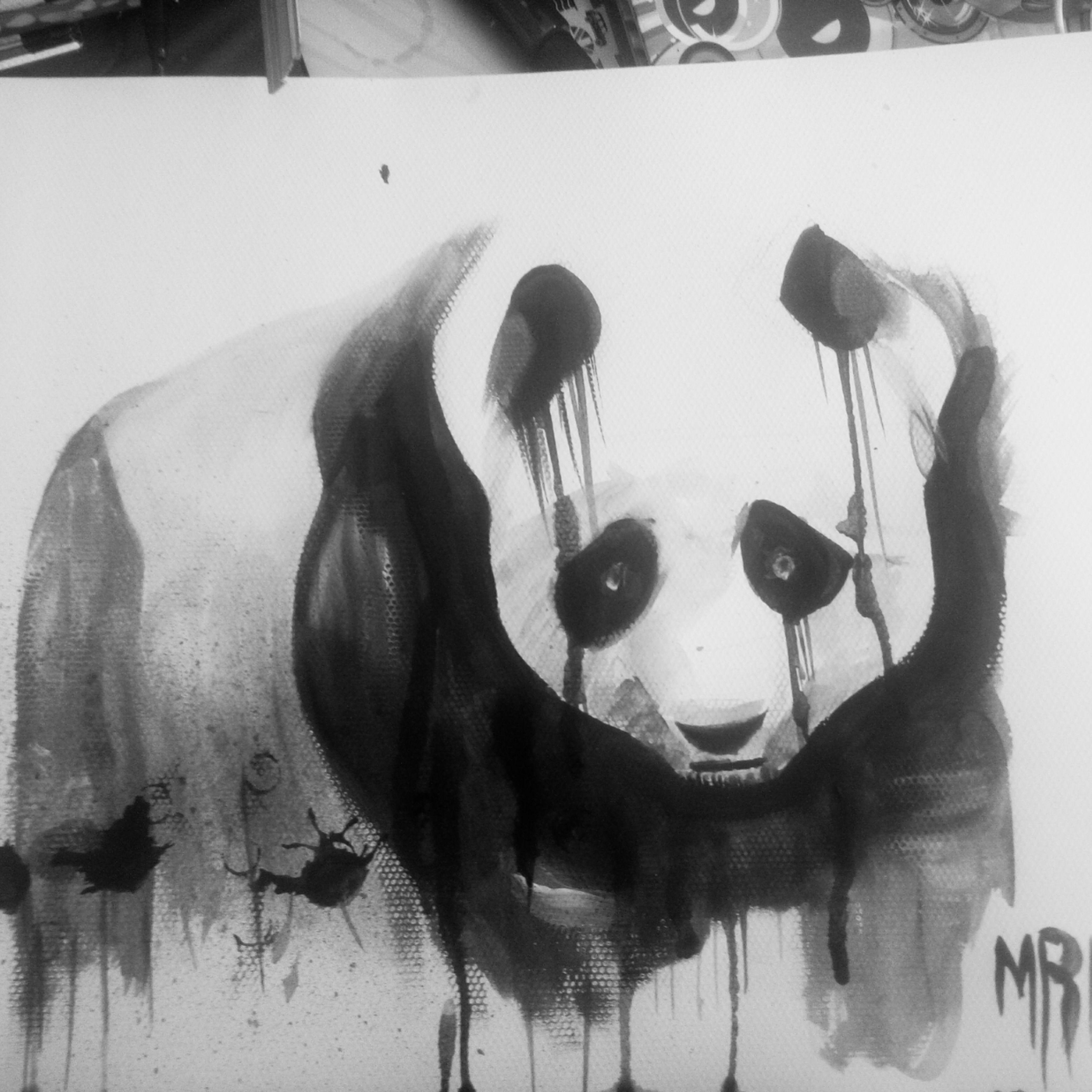 Painting Panda By Watercolor رسم الباندا بالألوان المائية Drawings Art Watercolor Paper