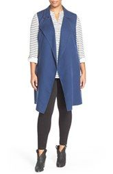 Wendy - Casual Family Halogen® Sleeveless Trench Coat (Plus Size)
