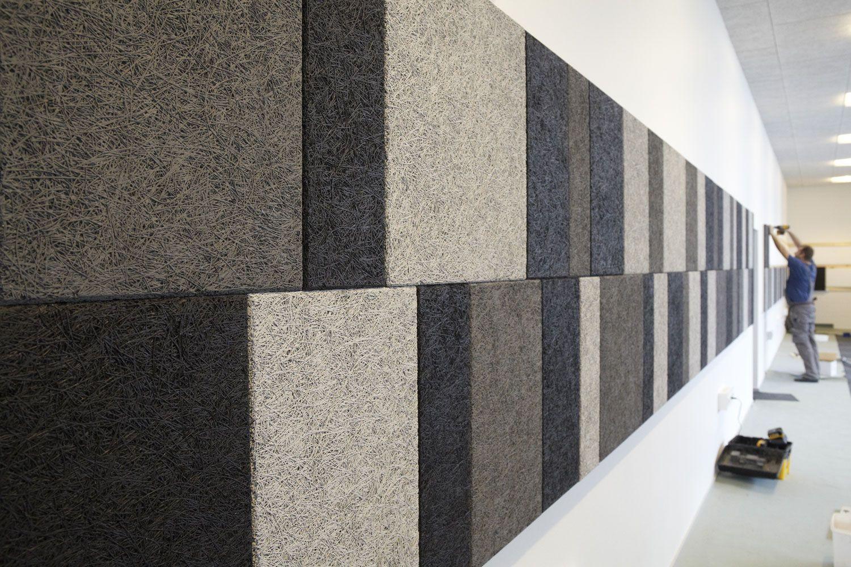 Acoustic insulation / wood wool / wall / panel - TROLDTEKT® MOSAIC - Troldtekt A/S