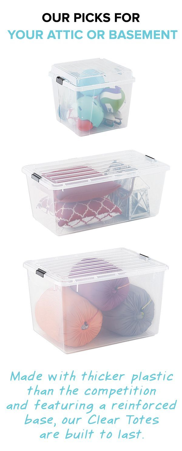 Storage Containers Don T Settle For A Subsute Get Our Clear Totes That Stand Up To