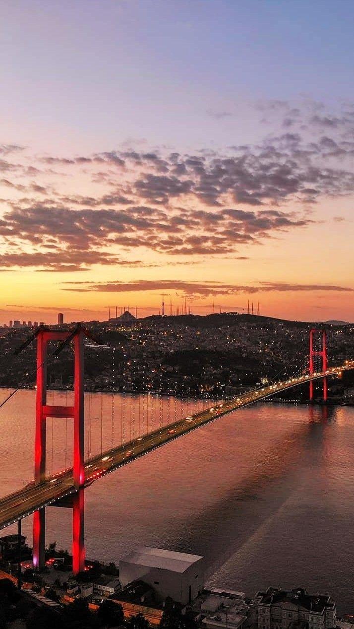Istanbul TURKEY Bosporus bridge..