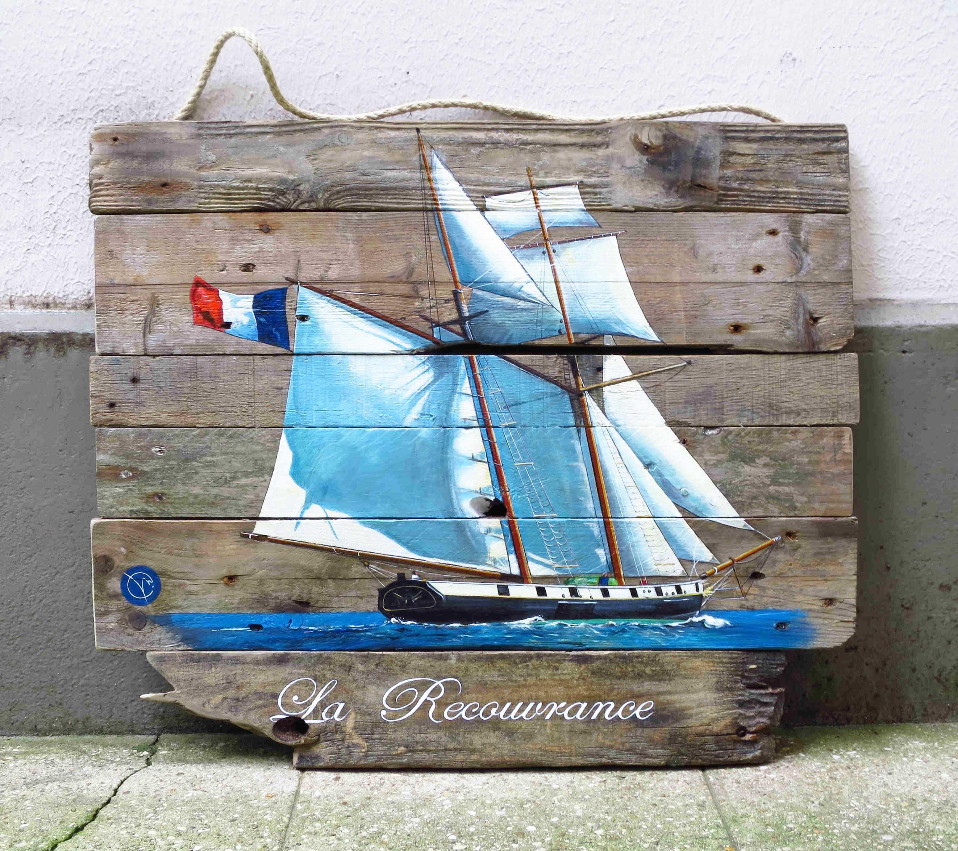 La recouvrance brest bateau vieux gr ment tableau bois for Les bois flottes de sophie