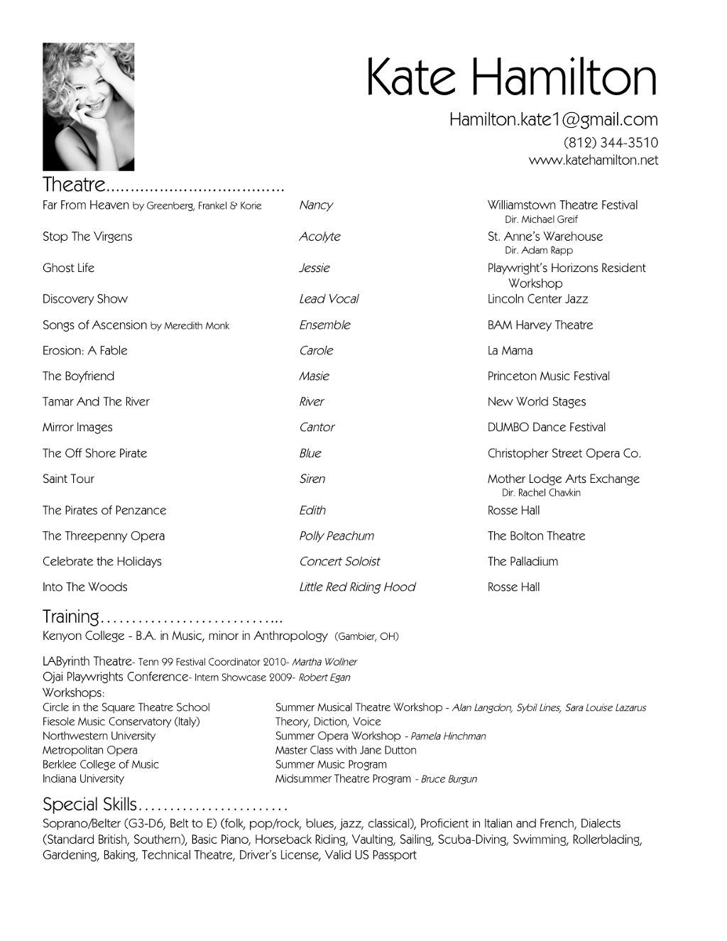 Example Of A Job Resume Resume Format For Advertising Agency  Httpwwwresumecareer