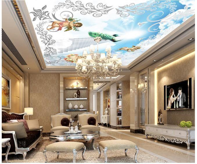 3D photo papier peint personnalisé 3d plafond peintures murales de