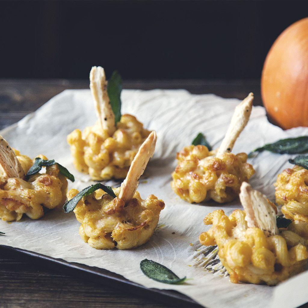 Macaroni Jack O' Lanterns. perfect for a little appetizer