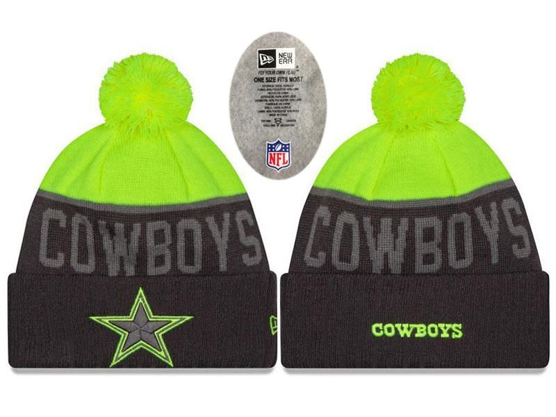 ef28095b1a684 Mens   Womens Dallas Cowboys New Era NFL Vivid Team Graphics On-Field  Sports Knit Pom Beanie Hat - Black   Green