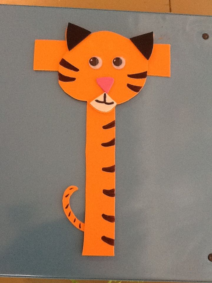 T is for Tiger. Fun letter t craft for preschool | Clasa