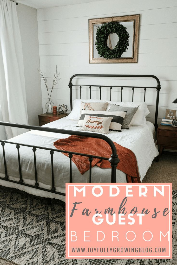 Modern Farmhouse Guest Bedroom How to Style