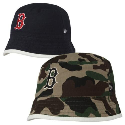 9ff7c2cc New Era Boston Red Sox Infant Flop Reversible Bucket Hat - Navy Blue/Camo by