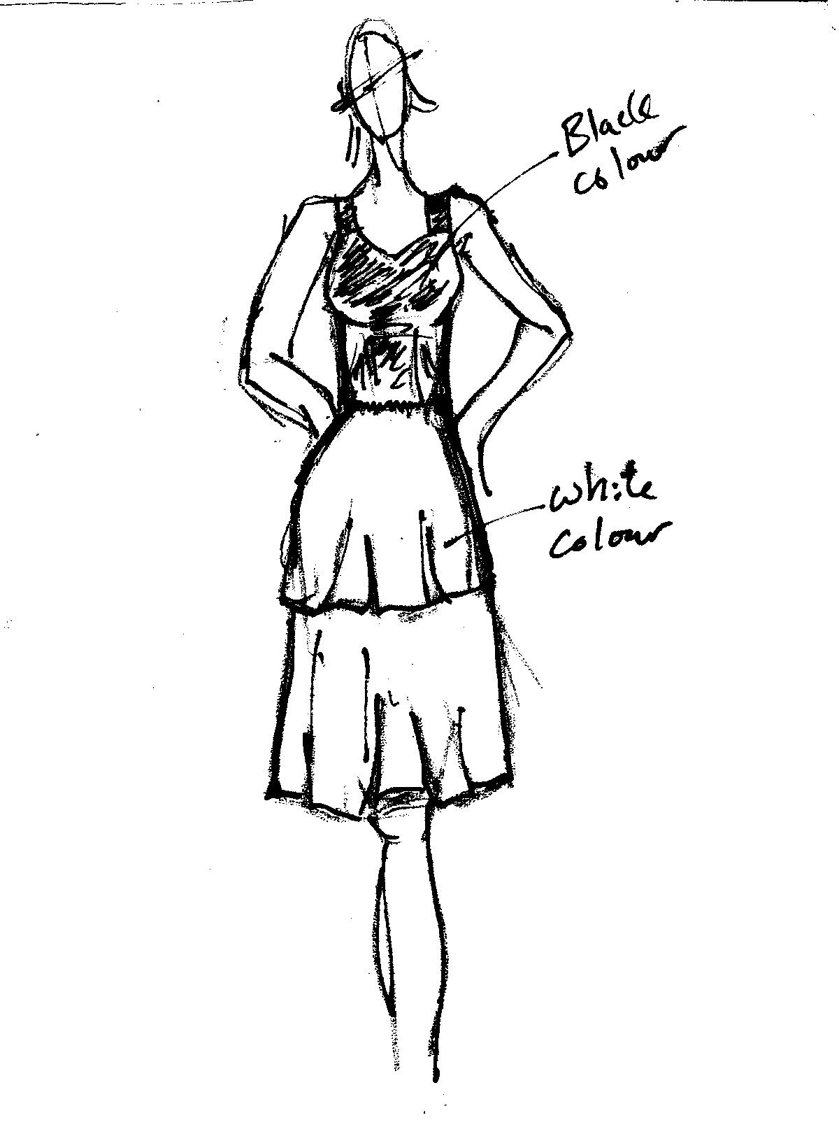 singapore plus size online shop selena peplum dress in black and white raw sketches