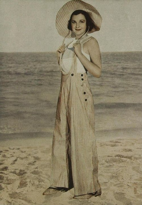 8528c8678a 1932 | beach pajamas | 1930s overalls | 30s summer wear | vintage clothing